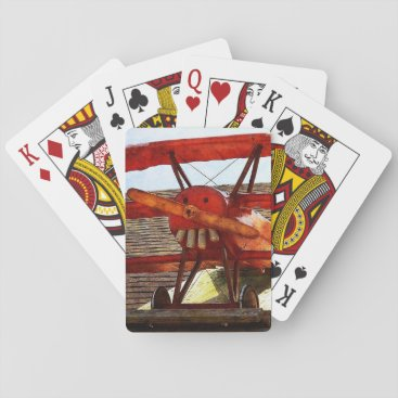 shirleytaylor Vintage Airplane by Shirley Taylor Playing Cards