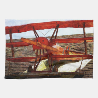 Vintage Airplane by Shirley Taylor Towels