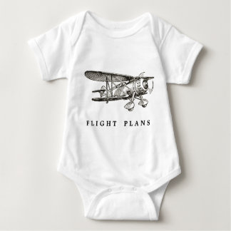 Vintage Airplane, Flight Plans Baby Bodysuit