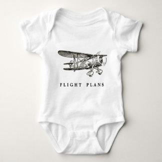 Vintage Airplane, Flight Plans Baby Bodysuit
