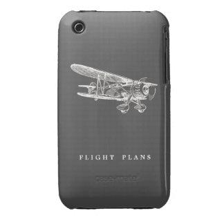 Vintage Airplane, Flight Plans Case-Mate iPhone 3 Case
