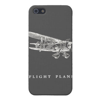Vintage Airplane, Flight Plans Covers For iPhone 5