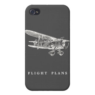 Vintage Airplane Flight Plans iPhone 4 Cover