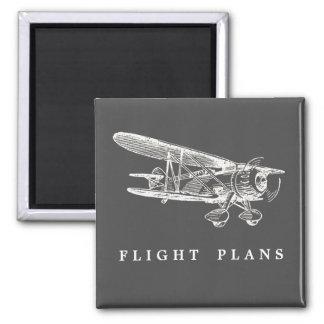 Vintage Airplane, Flight Plans Magnet