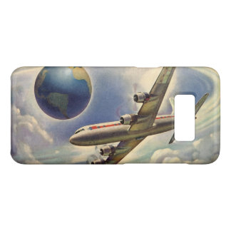 Vintage Airplane Flying Around the World in Clouds Case-Mate Samsung Galaxy S8 Case