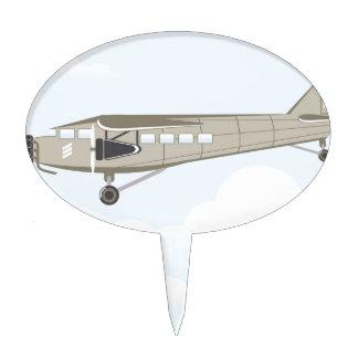 Vintage Airplane illustration vector Cake Topper