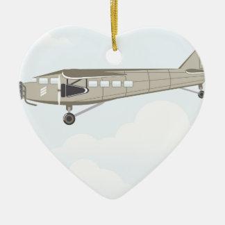 Vintage Airplane illustration vector Ceramic Ornament