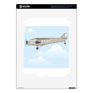 Vintage Airplane illustration vector iPad 3 Skin