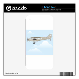 Vintage Airplane illustration vector iPhone 4 Decal