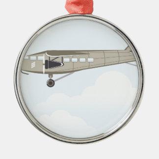 Vintage Airplane illustration vector Metal Ornament