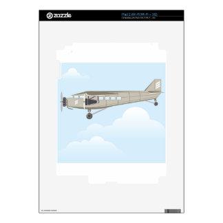 Vintage Airplane illustration vector Skins For iPad 2