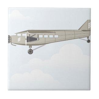 Vintage Airplane illustration vector Tile