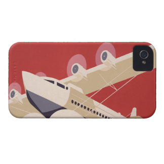 Vintage Airplane Jet WPA Federal Art Project iPhone 4 Covers