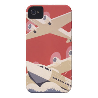 Vintage Airplane Jet WPA Federal Art Project Case-Mate iPhone 4 Case