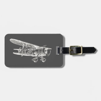 Vintage Airplane Luggage Tag