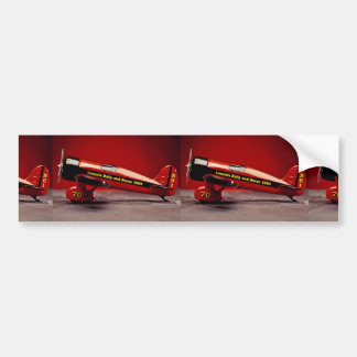 Vintage airplane model bumper stickers