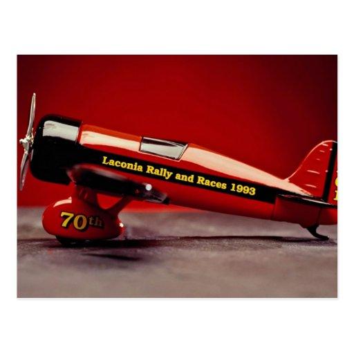Vintage airplane model postcards