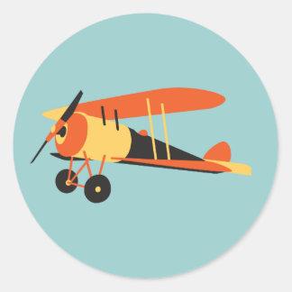 vintage  airplane, Nieuport 28,  WWI era Classic Round Sticker