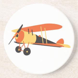 vintage  airplane, Nieuport 28,  WWI era Beverage Coasters