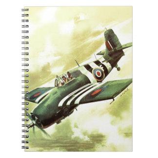 Vintage Airplane Notebook