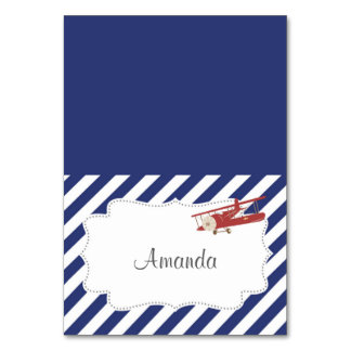 Vintage Airplane Place Card