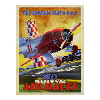 Vintage airplane racer poster