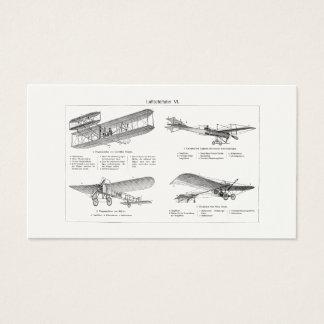 Vintage Airplane Retro Old Biplane Antique Planes Business Card