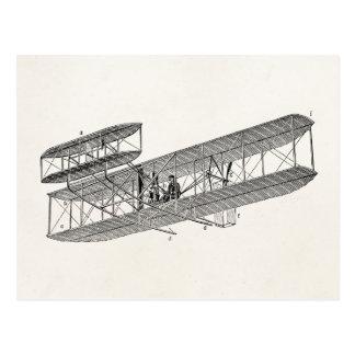 Vintage Airplane Retro Old Biplane Plane Biplanes Postcard