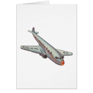 Vintage Airplane Valentine Card