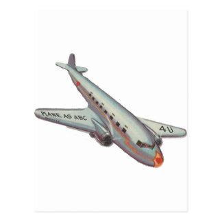 Vintage Airplane Valentine Postcard