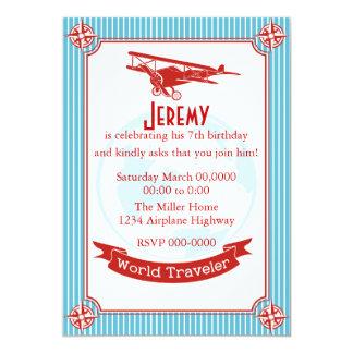 Vintage Airplane / World Traveler Card