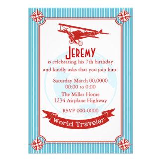 Vintage Airplane / World Traveler Custom Announcements