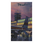 Vintage Airport, Passengers Boarding Airplane Poster