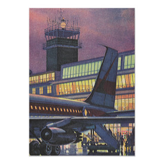 Vintage Airport, Passengers Boarding an Airplane Card