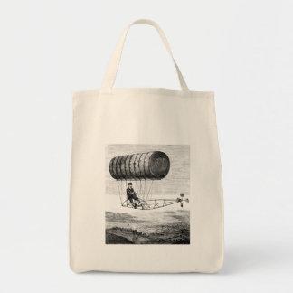 Vintage Airship / Balloon Blimp Dirigible Canvas Bags