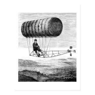 Vintage Airship / Balloon Blimp Dirigible Postcard