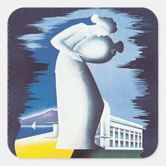 Vintage Aix-les-Bains Savoie Square Sticker