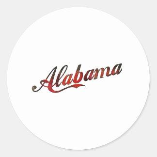 Vintage Alabama Classic Round Sticker