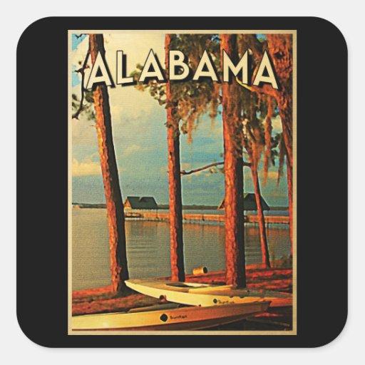 Vintage Alabama Pegatinas Cuadradases