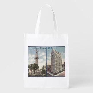 Vintage Alabama Reusable Grocery Bag