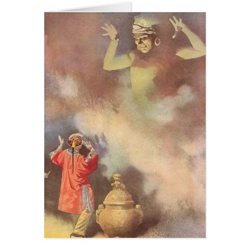 Vintage Aladdin and the Genie of the Lamp, Godwin Cards