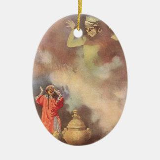 Vintage Aladdin and the Genie of the Lamp, Godwin Ceramic Ornament
