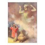 "Vintage Aladdin and the Genie of the Lamp, Godwin 5"" X 7"" Invitation Card"