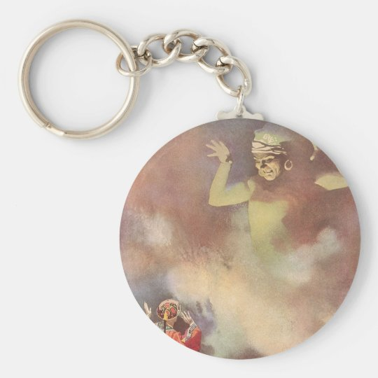 Vintage Aladdin and the Genie of the Lamp, Godwin Keychain