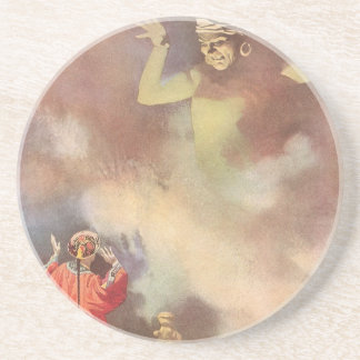 Vintage Aladdin and the Genie of the Lamp, Godwin Sandstone Coaster