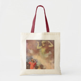 Vintage Aladdin And The Genie Of Lamp Win Tote Bag