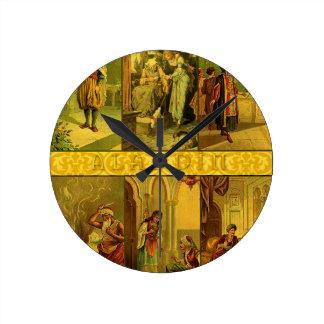 Vintage Aladdin Christmas Montage Wall Clocks