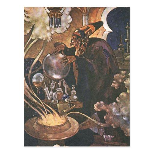 Vintage Aladdin y el cuento de hadas de la lámpara