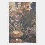 Vintage Aladdin y el cuento de hadas de la lámpara Toallas De Cocina