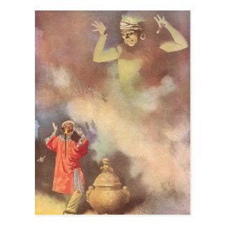 Vintage Aladdin y los genios de la lámpara, Godwin Tarjetas Postales